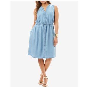 JESSICA LONDON CHAMBRAY DRESS